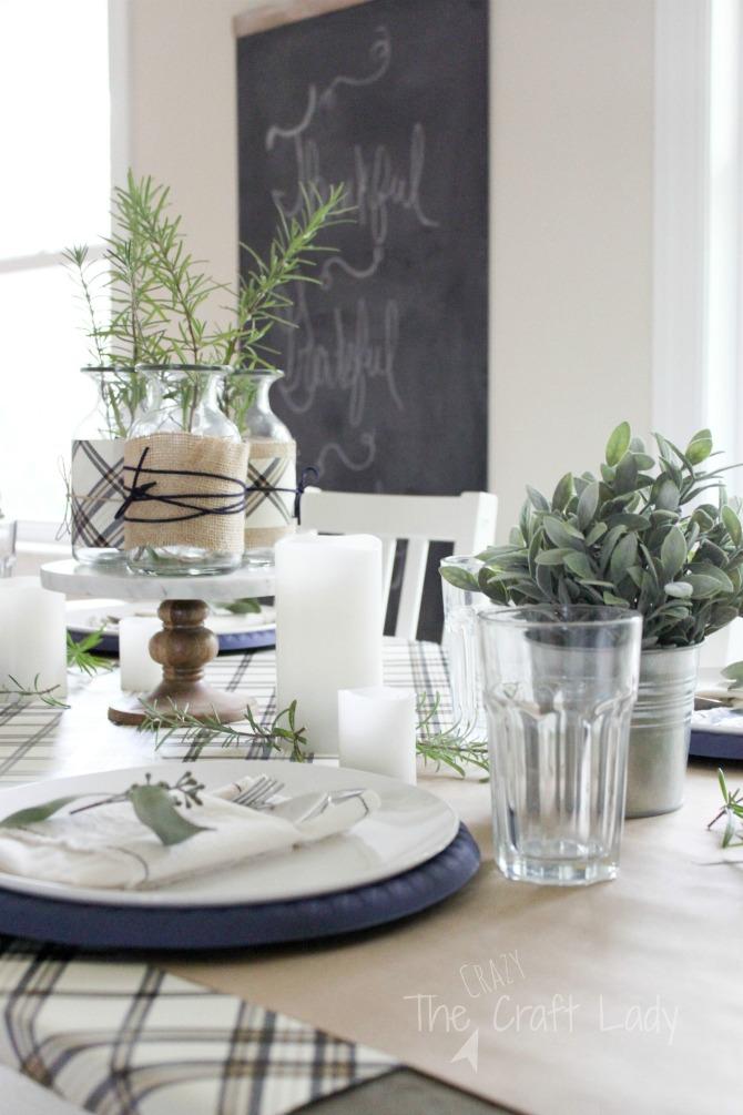 A Simple Thanksgiving Tablescape Bloghop The Crazy