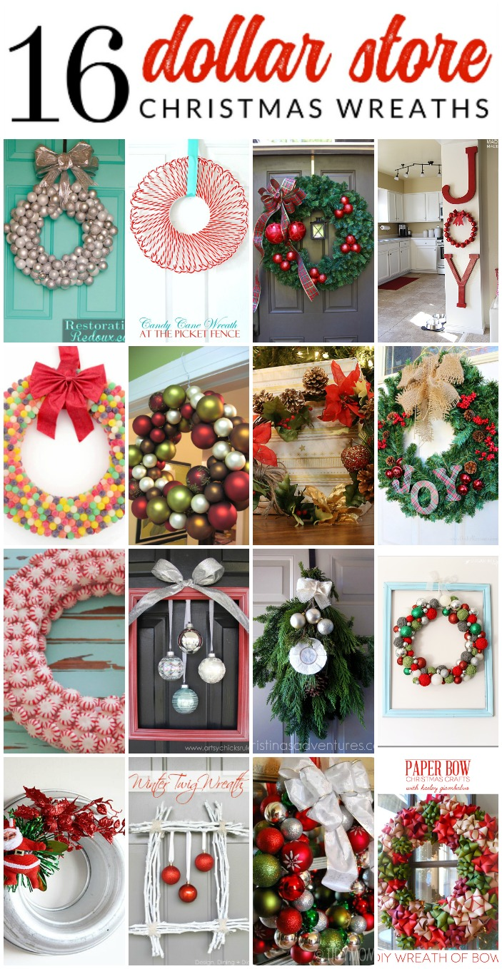 16 Gorgeous Dollar Store Christmas Wreaths The Crazy