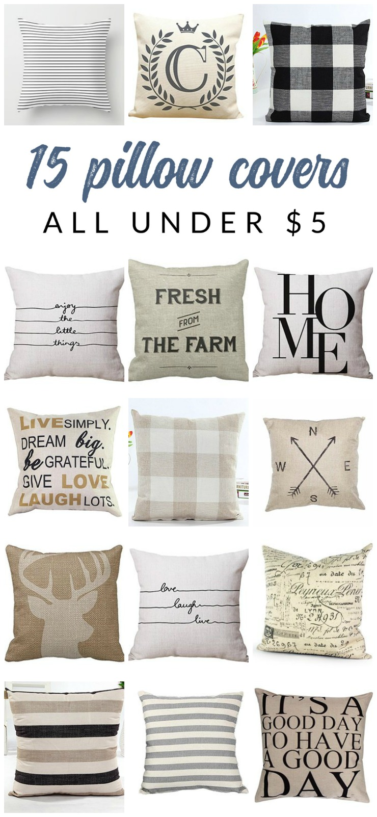 Inexpensive Farmhouse Decor