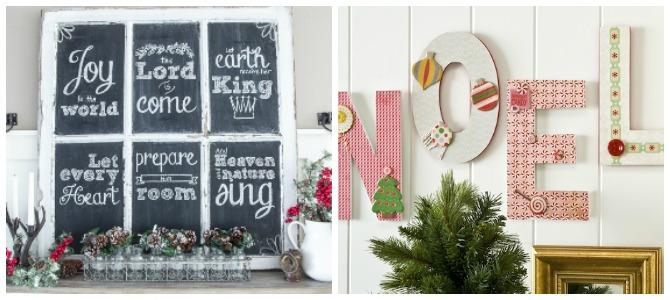 14 Inspiring DIY Christmas Wall Decor