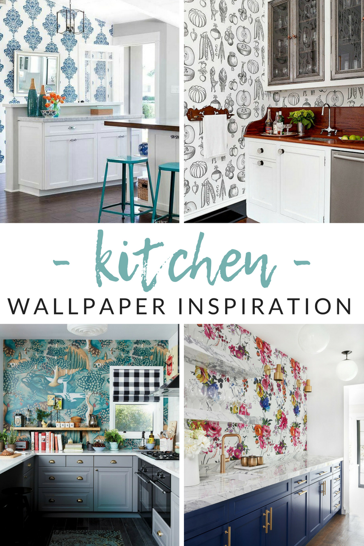 Unique Decor Ideas  Functional Kitchen Wallpaper Ideas   The Crazy     Love the idea of wallpaper  but afraid to pick  or stick