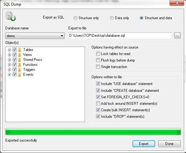 How To Backup Or Restore MySql Database Using SQLyog