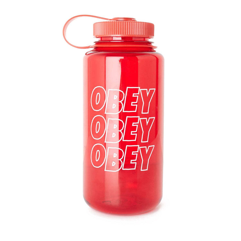 Obey Jumble Stacks Nalgene Water Bottle - Red 0