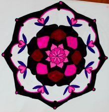 pink n black mandala