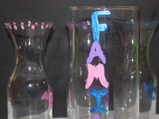Painted with their names and the Unification vase painted with Family.