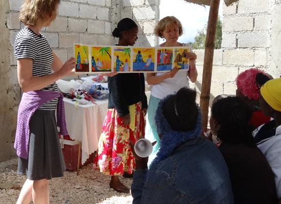 Haiti Women at the well