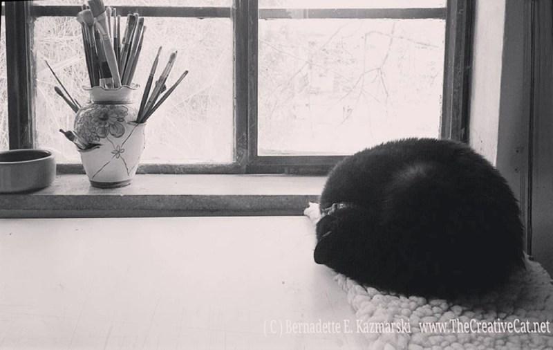 Mimi in the studio.