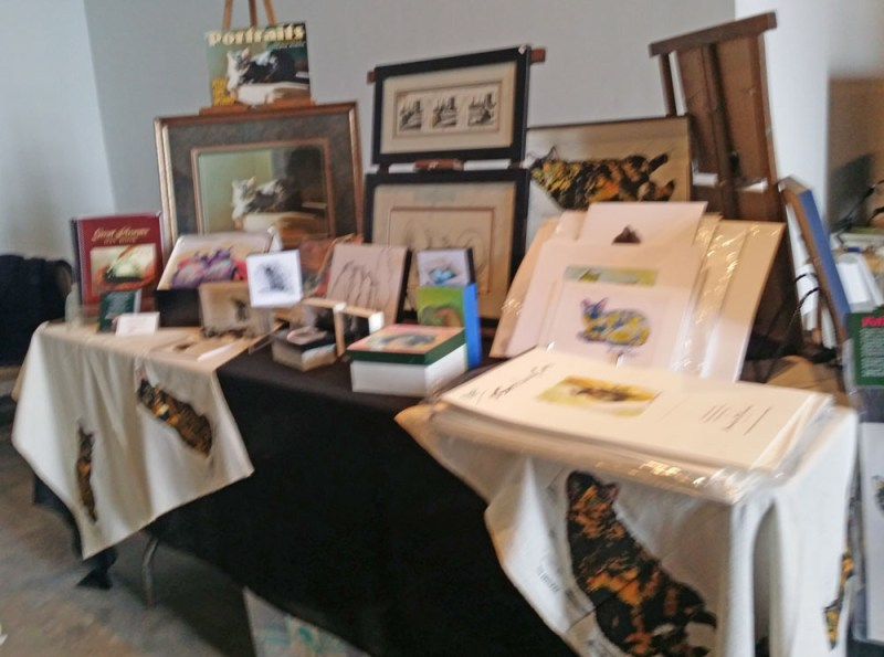 table of artwork