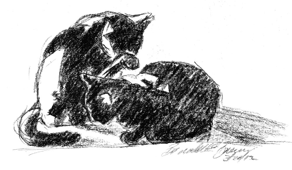 Daily Sketch Reprise: Contrast Couple, 2012