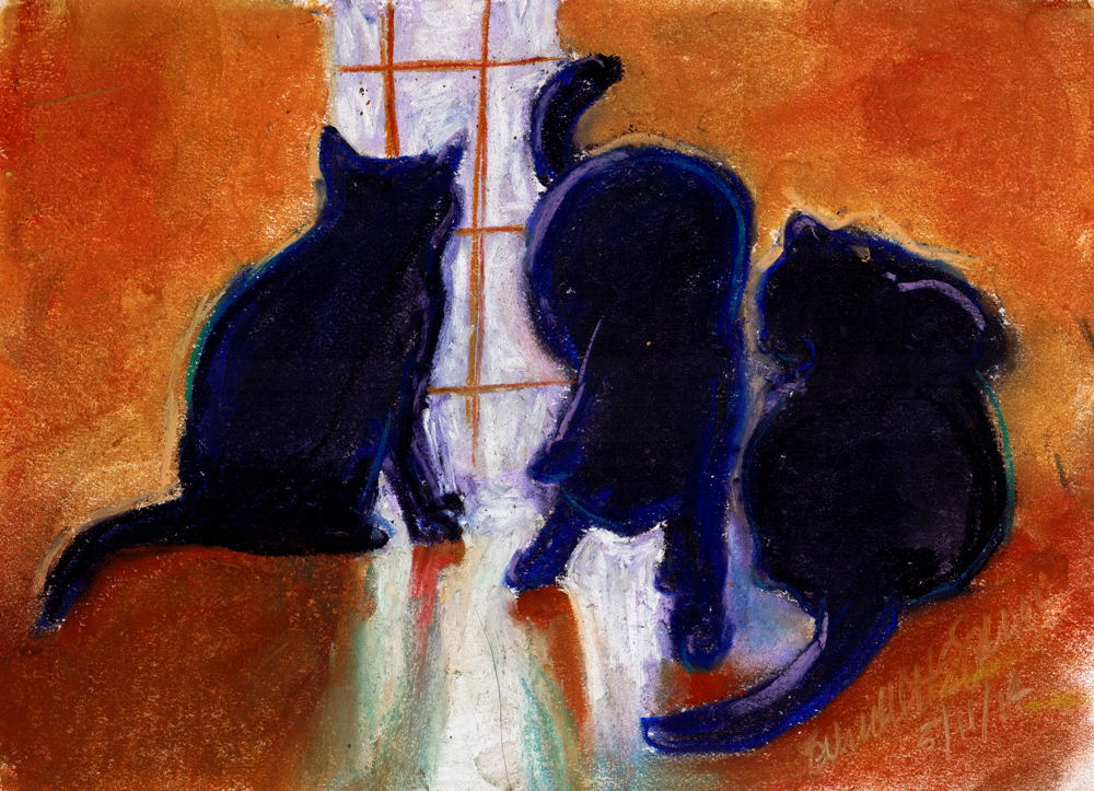 Daily Sketch Reprise: Mewsette's Tail, 2014