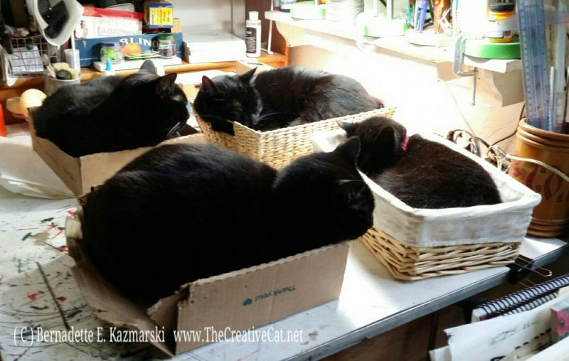 Neatly packed in their baskets.
