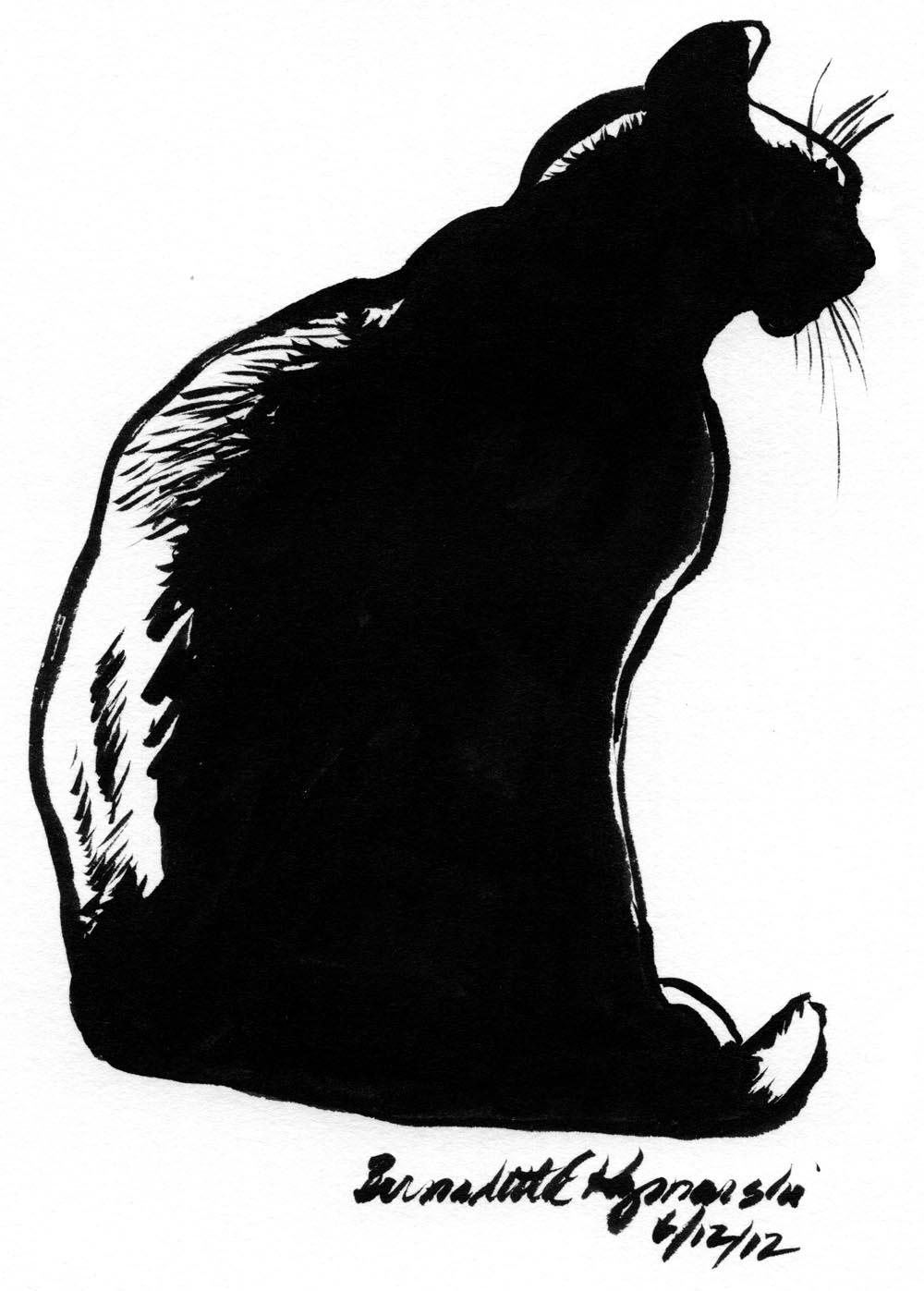 Daily Sketch Reprise: Mimi en Silhouette, 2012