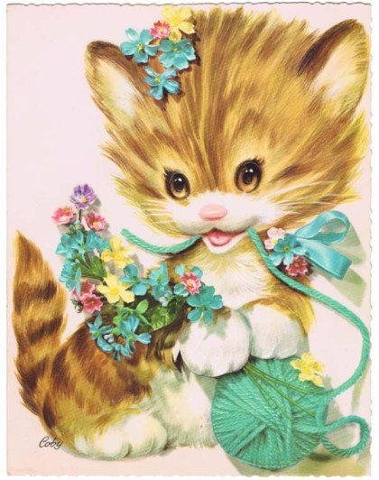 image of kitten birthday card