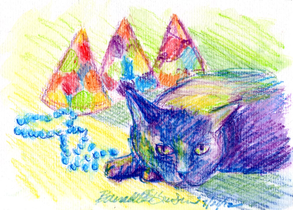 Daily Sketch Reprise: Party's Over, Fifth Birthday Party, 2012