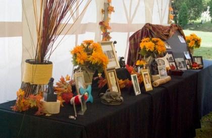 pet memorials on table