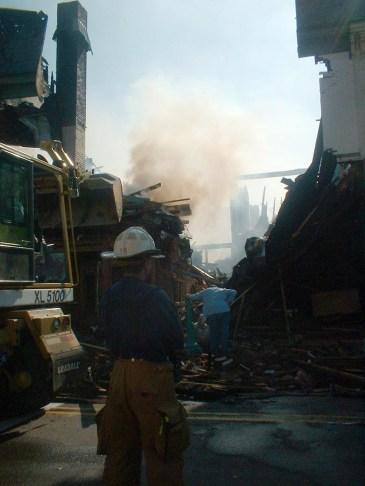 fire on main street
