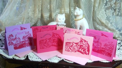 Full set, smaller sets and individuals of hand-printed Valentines