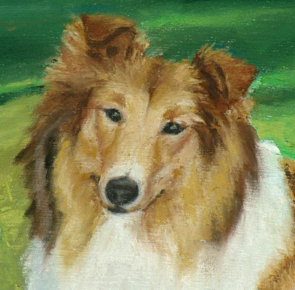 detail of portrait of dog