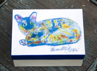 keepsake box with cat