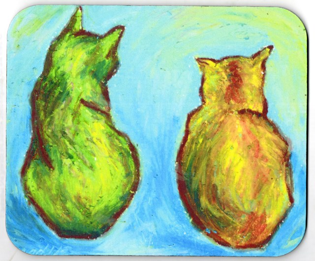 Two Cats After van Gogh