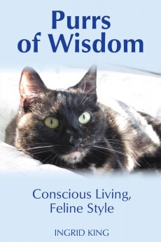 """Cover for """"Purrs of Wisdom"""" by Ingrid King"""