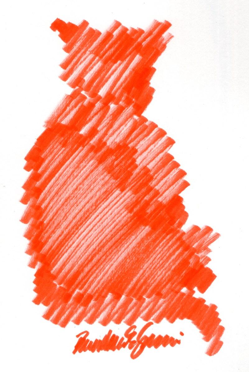 """Hot Afternoon"", brush marker, 4.5"" x 7"" © Bernadette E. Kazmarski"