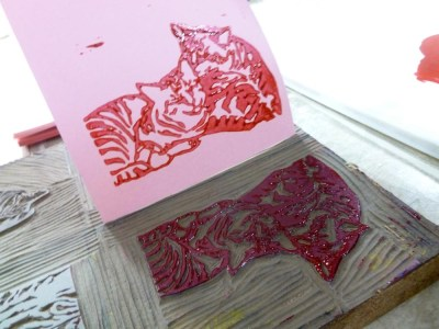 printing with linoleum block