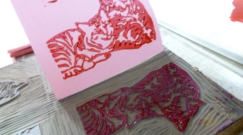 printing with linoleum block