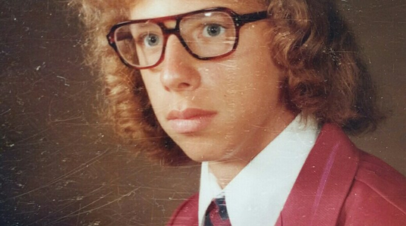 Mark's graduation photo, class of 1975.