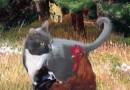"""Featured Artwork: Klepto Cat Book Cover No. 50, """"A PAWsome Encounter"""""""