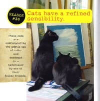 page in 67 reasons why cats are better than dogs