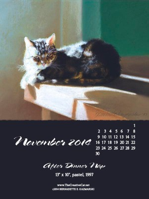 """After Dinner Nap"" desktop calendar, for 600 x 800 for iPad, Kindle and other readers"