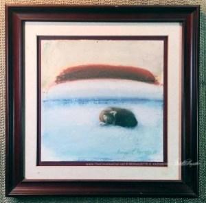 """""""Afternoon Nap"""" framed."""