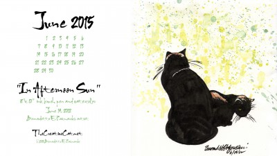 """""""In Afternoon Sun"""" desktop calendar 2560 x 1440 for HD and wide screens."""