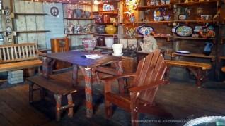 Handmade furniture and ceramic gift items.