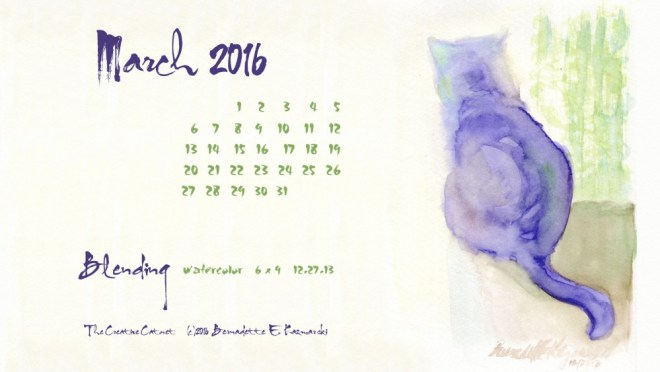 """Blending"" desktop calendar 2560 x 1440 for HD and wide screens."