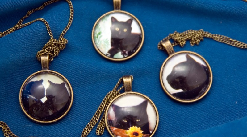 Black Cat Collection Cabochon Pendants