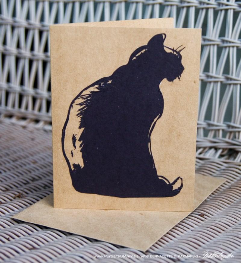 """Cut paper on kraft """"Mimi en Silhouette"""" card, 5 x 7"""