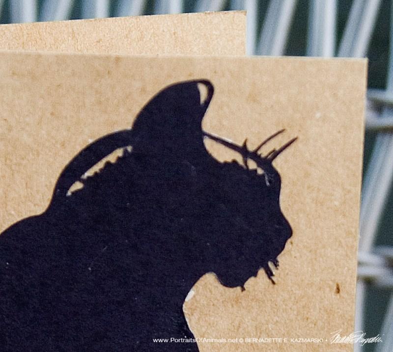 Mimi en Silhouette card detail.