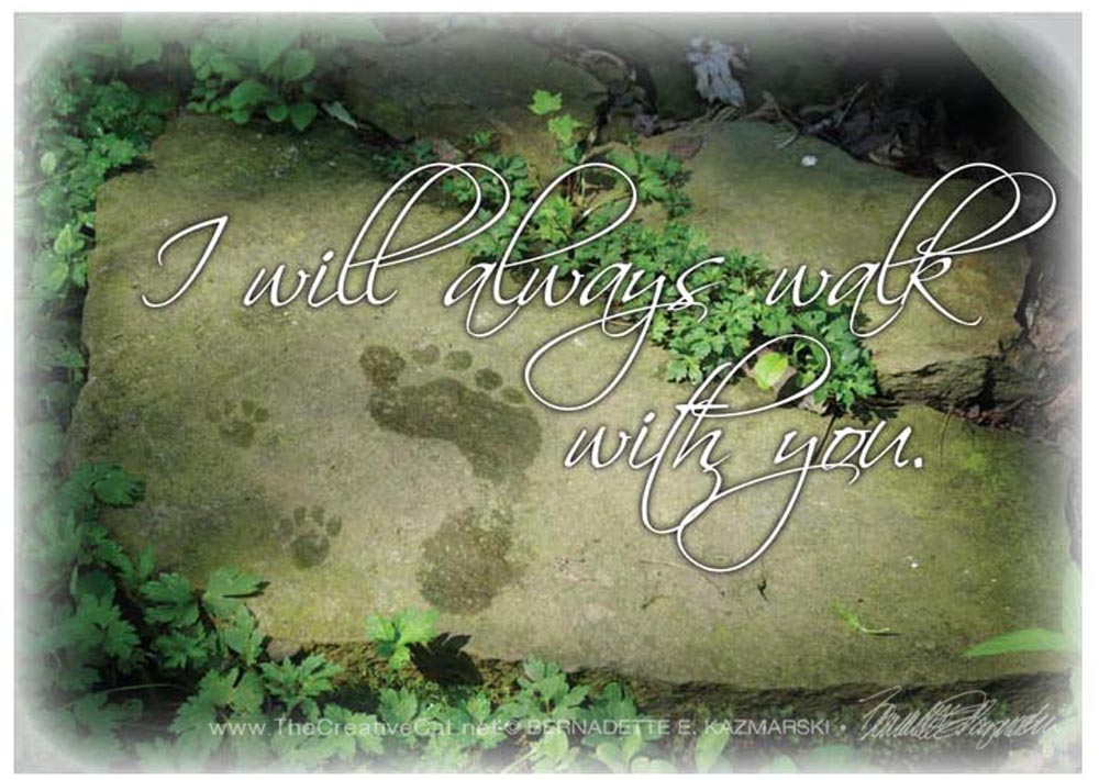 """I Will Always Walk With You"" sympathy card."