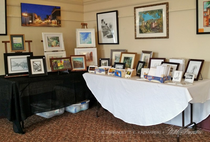 My display of Carnegie artwork--I'll have a good bit of this on Friday.