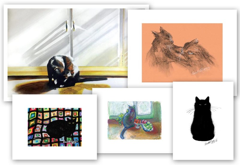 Collage of recent prints from requests and sales of originals.