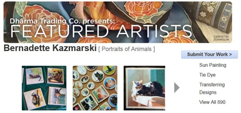 Featured artist page for tiles.