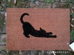 cat design doormat