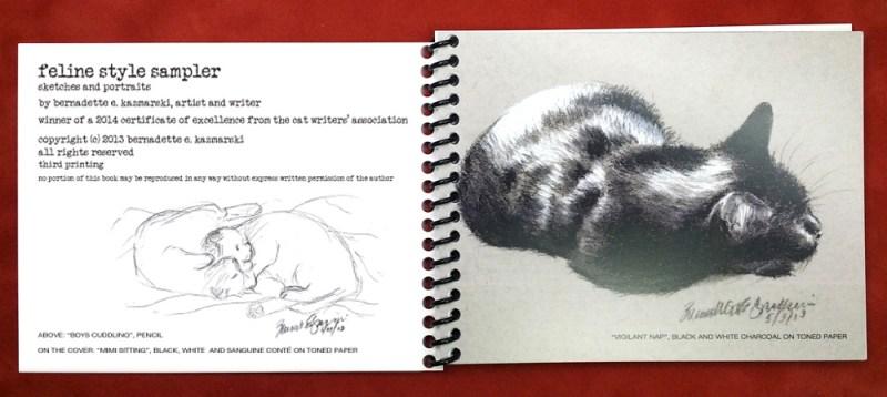 """""""Feline Style Sampler"""" title page.."""