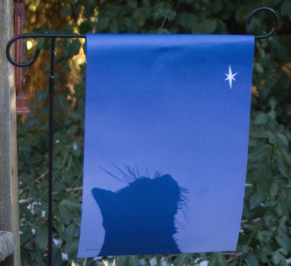 Bon Cat Garden Flag: U201c