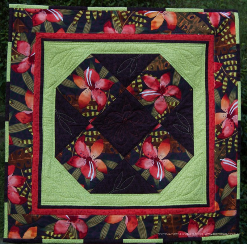 """""""Lilies"""", a handmade quit by Norma Clouse to benefit FosterCat."""