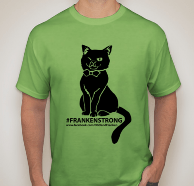 Purchase a tee to help Frankencat.