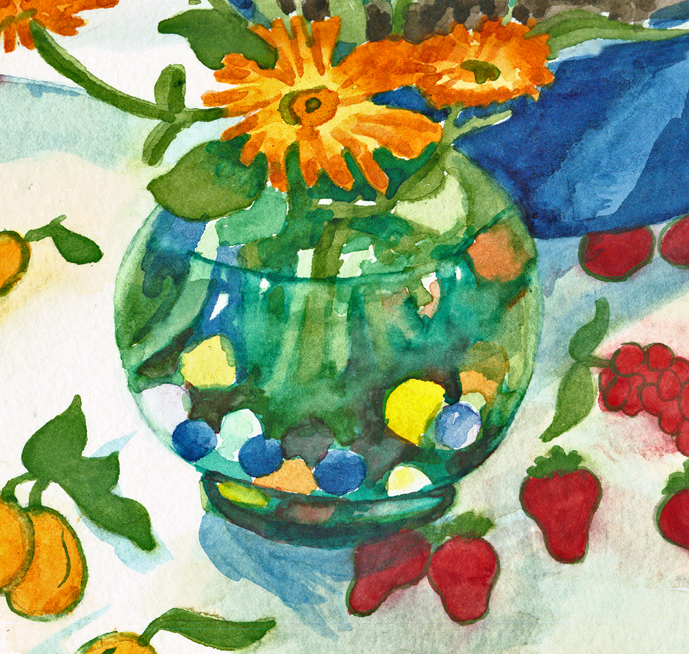 detail of watercolor