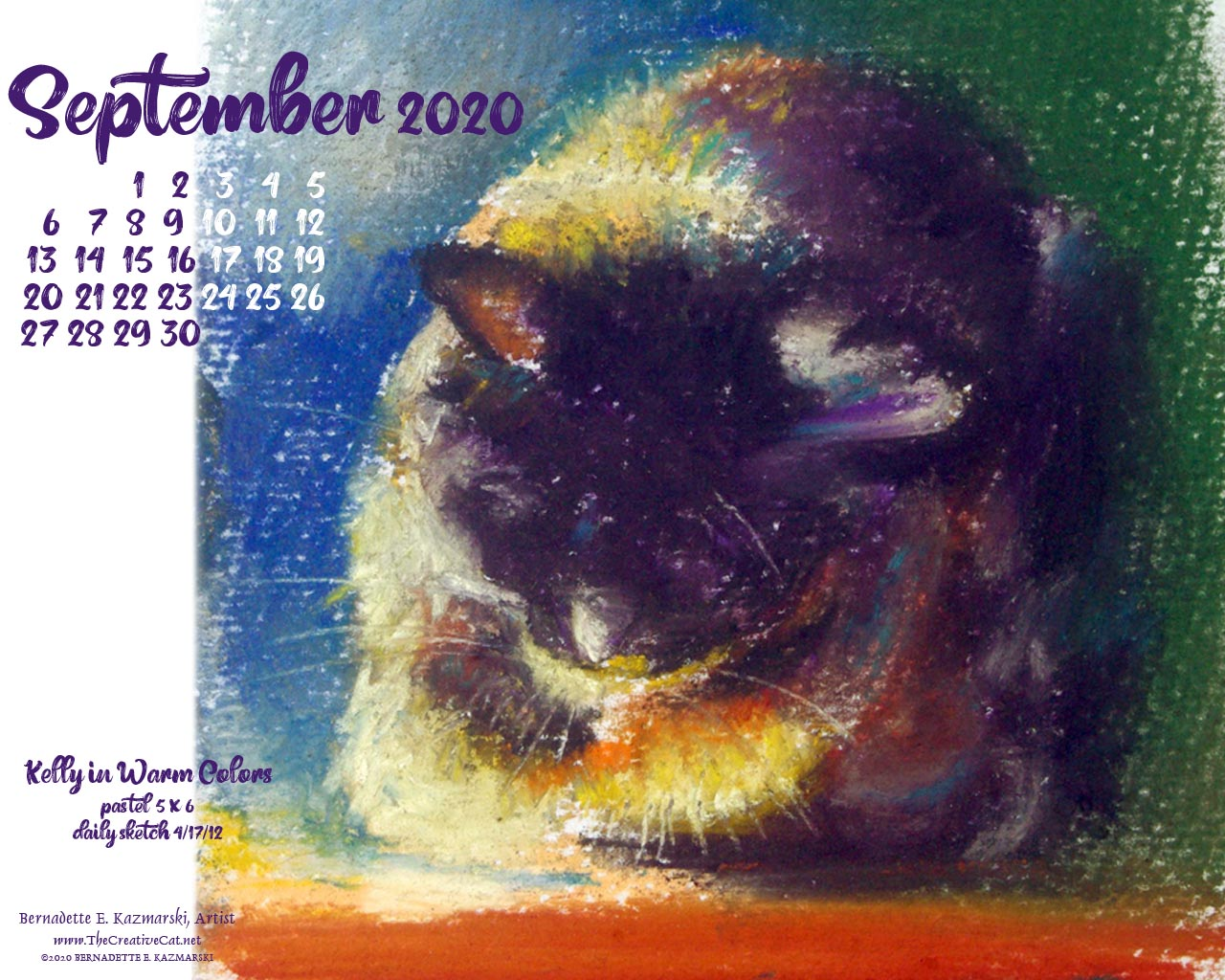 Desktop calendar 1280 x 1024 for square screens.
